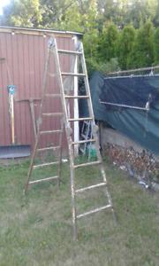 """Folding ladder...13'10"""" full length"""