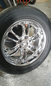 chrome rimes and tires Kingston Kingston Area image 1
