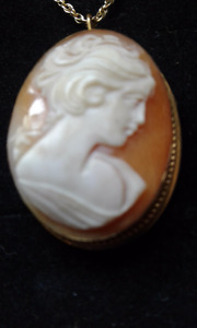 Antique Cameo Necklace with Brooch Clasp