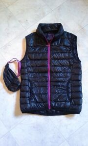 Simons down feather vest size small