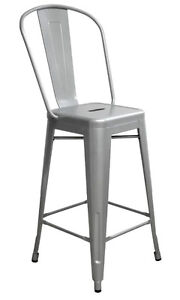 INDUSTRIAL RESTAURANT WOODEN SEAT DINING CHAIR BAR STOOL