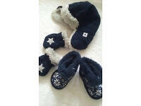 Baby winter hat/mittens/boots 3-6