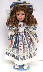Porcelain Collection Doll on Collector Stand