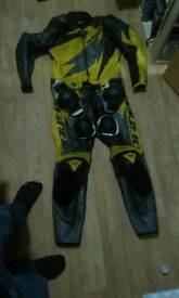 Dainese size 50 2piece leather suit