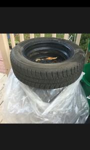 Bridgestone Blizzak 185/60r15 winter tires, on 4x100 steel rims