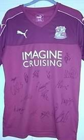 Swindon Town signed football shirt