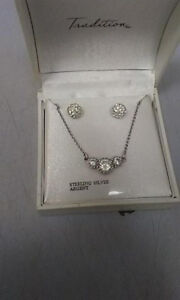 Sterling Silver Necklace/Earing set