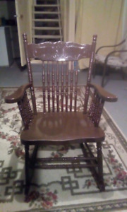 Vintage antique Newfoundland rocking chair