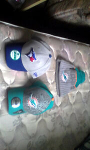 Brand New MLB and NFL hats with an NFL tuque.