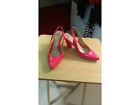 evans size 8 wide (fit a size 9) pink shoes