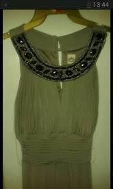 Dove Grey Grecian Style Formal Dress