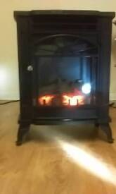 Fire free standing black clean n tidy