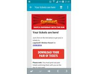 2 legoland windsor tickets