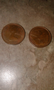 Coins Cayman island's.  Early 80's