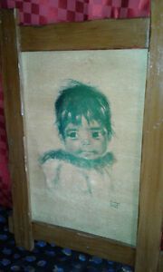 AUDREY YOUNG OPPEL COLLECTIBLE ARTIST,BIG EYED CHILDREN