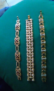 gold  plated ladies braclets