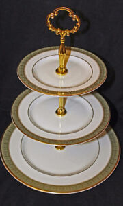 ROYAL DOULTON - BELVEDERE    3 TIER CAKE STAND