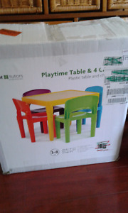 Tot tutors plastic table and chairs