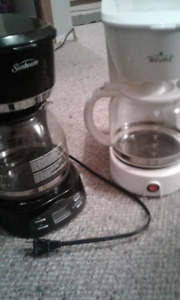 Two working coffee makers