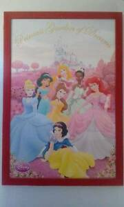 Disney Princess canvas and picture frame Cape Jervis Yankalilla Area Preview