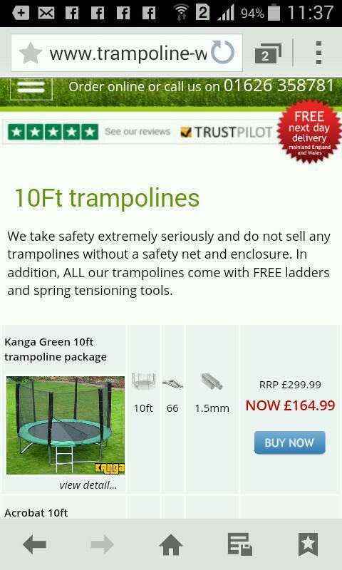 Manga trampolinein Sheffield, South YorkshireGumtree - Only a few month old very excellent condition Come get a bargain !!! Ps its taken down ready for collection