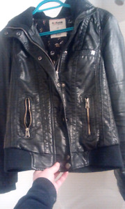 Women garage leather jacket