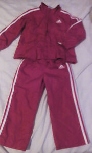Adidas track suit,girls size 2t, excellent cond, $15