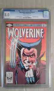 Wolverine #1 limited series 1982 cgc 8.0