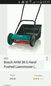 Bosch ahm 38 g hand push lawnmower