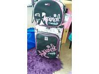 Animal hand luggage and vanity case used