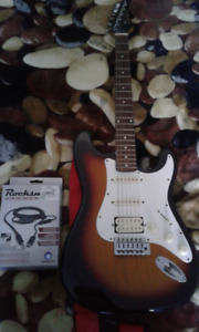 Electric Guitar with Rocksmith Cable for Game or PC console
