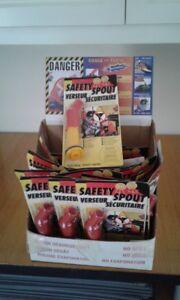 Safety fuel spouts