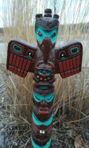 Haida Totem Poles Crafted By Shamans In British Columbia, Canada