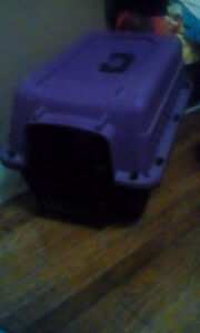 Purple and black cat cage