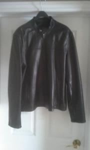 Mens Danier Leather Bomber Jacket