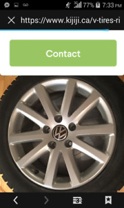 "Spare 2010 VW Golf 17"" alloy rim & a 225/45r17 Continental tire"