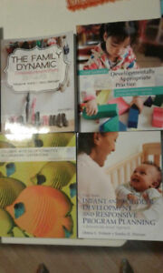Early learning and child care text books X 2 years