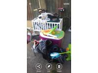 Job lot of baby items, clothes and dvds