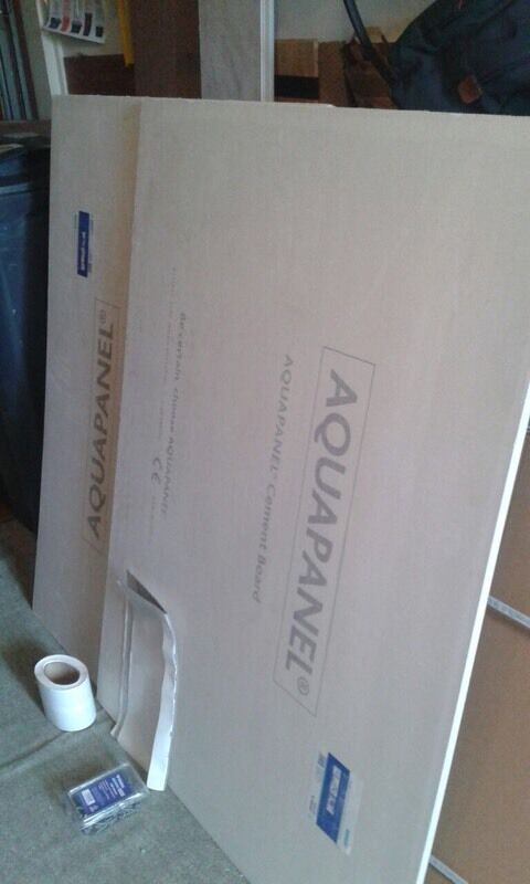 New Aquapanel Cement Boards For Shower And Fittings