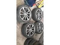 "Vauxhall Astra J alloys 18"" turbo fitment 235 45 18 tyres 5x115"