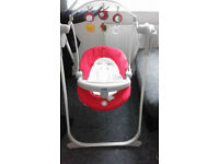 chicco baby swing excellent condition