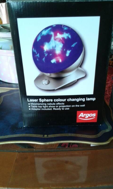 Laser sphere lamp