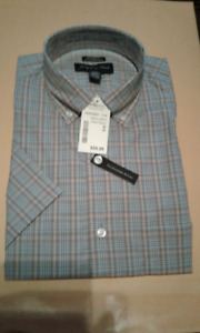 New Men's  Joseph & Feiss Short Sleeve Shirt With Tags