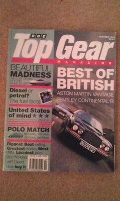 - TOP GEAR MAGAZINE OCT-1994 - Aston Vantage, Bentley Continental R, Xantia, Polo