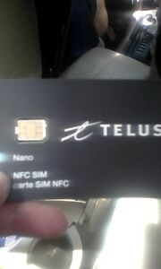 telus nano sim 12$ never been activated