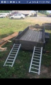 12x4  can fit 2 atv utility trailer can drop off all re wired