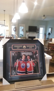 Oilers McDavid and Gretzky framed picture