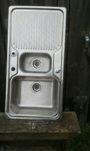 stainless steel sink with overflow