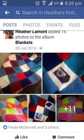 Kids hand knitted blankets
