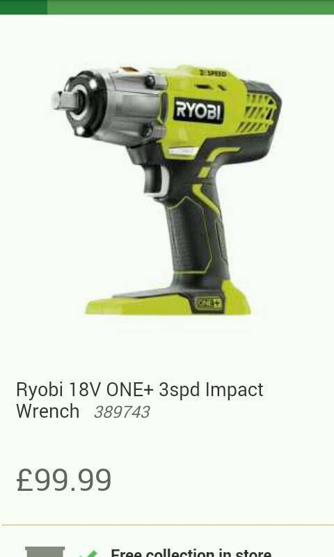 Impact wrench 3 speed & 1. 3 amp battery